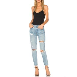 GRLFRND Karolina High-Rise Distressed Skinny Jean